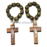 wholesale finger ring Catholic rosary in stainless steel jewelry,Catholic Finger Rings,wood beads cord rosary