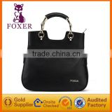 metal bamboo characteristic handle special wholesale cowhide leather handbag