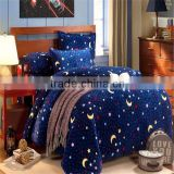 textile home conforter heavery navy blue star printed bedding sets ,full/queen with two pillows