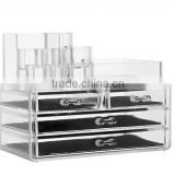 Hot sale Clear Makeup Organizer Storage case drawers Cosmetic Organizer Jewelry storage Acrylic cabinet Box