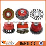 Bevel brush knotted twisted cup steel wire brush for polishing