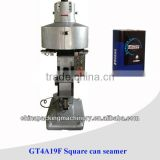 Square can sealing seamer machine