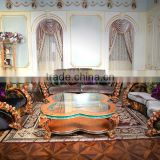 Fabulous French New Design Rococo Rose Vivid Wooden Carving Living Room Furniture Sofa Set