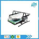 Hangzhou Office And School Supplier Cheap Metal Wire Mesh Black 2 Tier File Tray