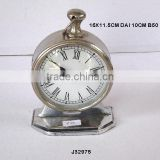 Round table clock hand watch style in mirror polish Finish and alos available in nickel plating