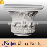 hotel decoration marble white column capitals wholesale NTMF-CP010Y