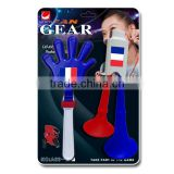 2016 Euro Cup fans plastic cheering 2 tones horns and handclapper set/ fan gears / soccer fans noise maker kit