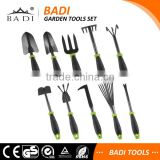 10 piece sets garden tool & planting set with black powder coating