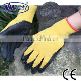 NMSAFETY China cheapest 10 gauge latex coated work gloves/latex hand gloves/lumberjack work gloves