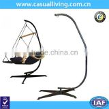 Oudoor free standing swing hammock chairs stand display stand steel with canopy