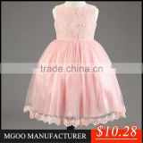 MGOO Stock Elegant Girls White Lace Dresses Girl Dresses Infant Special Occasions Princess Party MGT042-1