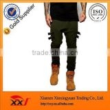 custom mens drop crotch joggers fashion sweat pants joggers high quality sweatpants with zippers