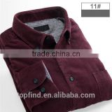 2016 New Style Fallow burgundy Jeans corduroy Shirt For Men corduroy shirt