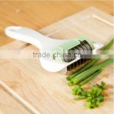 Vegetable Julienne Slicer Cutter Coriander Chopped Chopping Multi Chopper Sharp Scallion Slices Of Onion And Garlic Knife KC1130