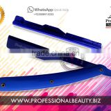 BARBER STRAIGHT CUT THROAT SALON SHAVING RAZOR All Blue Straight Shaving Razor
