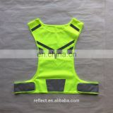 yellow mesh riding reflective runing vest