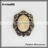 antique brooch with artificial stone for woman