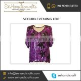 Good Quality Sequin Ladies Top from Wholesale Supplier