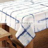 tyi and dyed bed sheet, indigo blue table cover single size table cloth throw