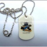 OEM Metal blank dog tag plain
