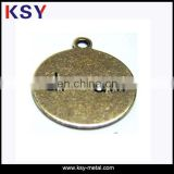 antique brass round metal jewelry tags