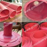Abrasion resistant rubber sheeting