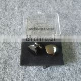 blank logo silver plated metal cufflink with gifts box for wholesale