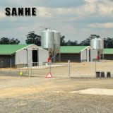 Light steel frame chicken house designs prefab chicken farm building