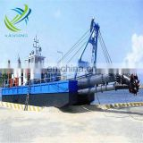 River sand pump dredger with dredging pumps