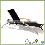 Outdoor Wooden PE Rattan Furniture Armless Chaise Lounge Sun Lounger Import Furniture From China