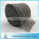 Fashional plastic rhinestone mesh trimming for garment