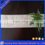 China manufacturer 100% white natural cotton custom logo elastic band                                                                                                         Supplier's Choice