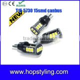 canbus error free white 12V SMD 5730 + led T15 W16W 12v led backup light,12v automotive led light