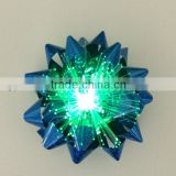 LED Iridescent 3D Butterfly Header Curly Gift Bow/LED Iredescent Ribbon Star Bows for gift or holiday party night decoration