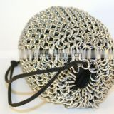 Custom Design High Quality Stainless Steel Chainmail Packaging Storage Bag Chainmail Wine Bottle Holder Bag