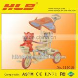 High quality child tricycle bike, baby trolley kids trike Classic Tricycle with Push Handle