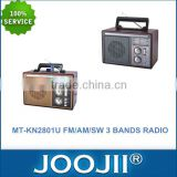 Multi band radio receivers, FM/AM/SW 3 band radio wooden radio support USB/SD/TF, Karaoke function