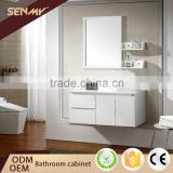 China Supplier Wall-Mounted White Oak Wood Bathroom Vanity Cabinet with Mirror                                                                         Quality Choice