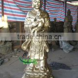 Bronze Guanyin holding baby sculpture