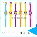 Fashional Custom Printed 5Atm Water Resistant Silicone Watch silicone rubber wristband watch