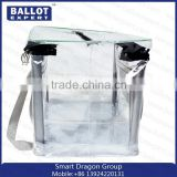 Plexiglass Box With Hinged Lid Non Woven Bag/ Pvc Voted Box Packaging