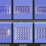 Compartments Plastic False Nail Tips Storage empty Box Natural clear for nail arti salon tool 500 PCS FALSE TIPS NA018