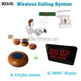 Wireless Ordering System Wireless Panel Display Receiver With Table Buzzer Restaurant Waiter Call Bell For Catering Equipment