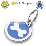 Wholesale cheap custom metal military blank dog ID tag with epoxy for gift