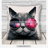 high quality fashion angry cats design 3d digital print pillowcases fullprint decorative throw pillow covers seat cushion Cover