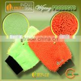 2015 New design hot sale microfiber chenille car wiping mitt with strong absorption capacity