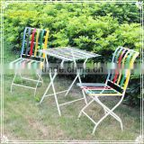 custom colorful metal patio furniture set table and chairs for garden deco
