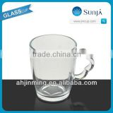 SH40 clear milk tea glass cup mug home use milk tea glasses with flower-shaped handle milk glass cup mug handle