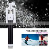 Free samples free shipping promotion gift wireless monopod with bluetooth shutter button oem selfie sticks blue tooth