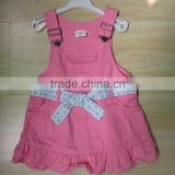 boutique clothing sets high quality soft baby dress lovely pink dresses